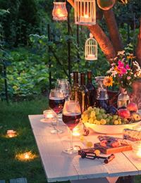 Градинско осветление за вечери на открито