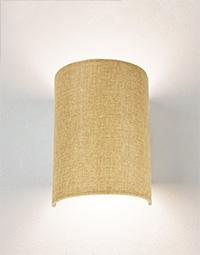 Аплик с текстилен абажур
