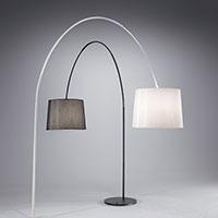 Лампион тип арка с текстилен абажур