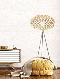 Лампион топка от естествени материали.