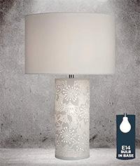 Нощна лампа с керамична основа