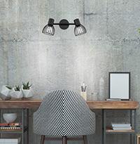 Спот във винтидж стил над бюро
